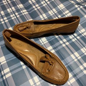 Franco Sarto Woman's Suede Brown Loafer 9.5 M